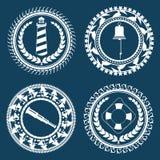 Nautical Symbols 2. Nautical Symbols Element Set 2 Royalty Free Stock Photos