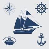 Nautical symbols royalty free illustration