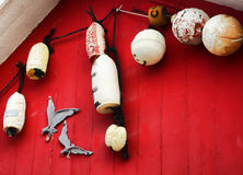Nautical theme decorations Stock Photo