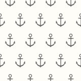 Nautical theme. Seamless pattern with silhouette of anchors Royalty Free Stock Images