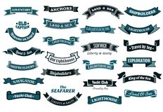 Nautical themed banners Stock Image