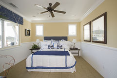 Nautical Themed Bedroom Stock Photography