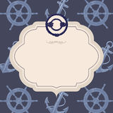 Nautical vector card Stock Images