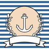 Nautical vector card Royalty Free Stock Photo