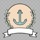 Nautical vector card or sailor invitation Stock Image