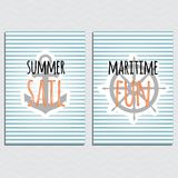 Nautical vector design poster/banner/gift card royalty free illustration