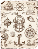 Nautical Vector Illustration Set Stock Photo