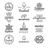 Nautical vector logos in hipster style Royalty Free Stock Photo