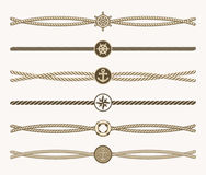 Free Nautical Vintage Rope Vector Dividers Stock Photos - 84853983