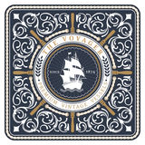 Nautical The Voyager Retro Card Royalty Free Stock Image
