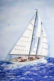 Nautical Watercolor Royalty Free Stock Image