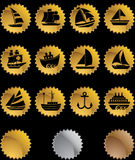 Nautical web buttons - seal royalty free illustration