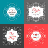 Nautical wedding invitation Marine vector save the date cards Royalty Free Stock Photo