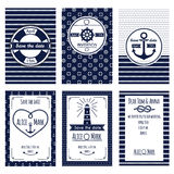 Nautical wedding invitation Royalty Free Stock Photo