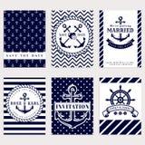 Nautical Wedding Invitations. Royalty Free Stock Photos