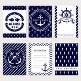 Nautical wedding invitations Stock Photos