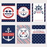 Nautical wedding invitations. Royalty Free Stock Photo