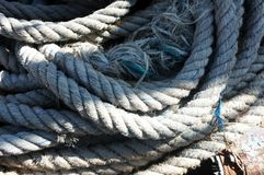 Nautical white rope Royalty Free Stock Photography