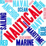 Nautical Word Cloud. On a white background Royalty Free Stock Photography