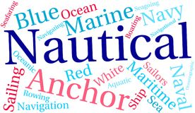 Nautical Word Cloud. On a white background Royalty Free Stock Image