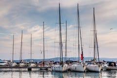 Nautical Yachts in Marina of Baska Voda, Dalmatia Stock Images