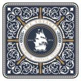 Nautico la retro carta di Voyager Royalty Illustrazione gratis