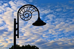Nautilus Lamp And Morning Clouds Royalty Free Stock Photography