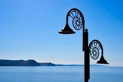 Nautilus Lamps Against The Jurassic Coastline Stock Image
