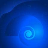 Nautilus-seashells-LIT-EFFECT-BLUE-OCEAN royalty free illustration