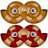 Nautilus Shell Mask Set Royalty Free Stock Images