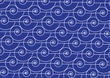Nautilus shell pattern marine background stock image