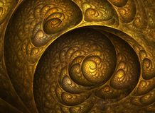 Nautilus Shell Spiral Fractal. Great for your compositions Royalty Free Stock Photography