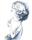Nautilus woman Stock Images