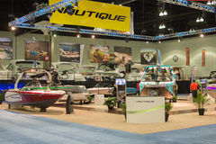 Nautique stand at the Los Angeles Boat Show on February 7, 2014 Royalty Free Stock Photo