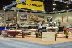 Nautique-Stand am Los Angeles-Boot stellen am 7. Februar 2014 dar Lizenzfreies Stockfoto