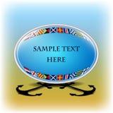 Nautisk anförandebubbla med utrymme för din text Arkivfoton