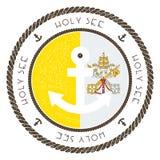 Nautisk loppstämpel med Holy See Vatican City Royaltyfria Foton
