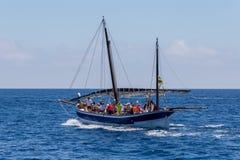Nautisk procession av Virgenen del Spårvagnsförare (helgonet av sjömän) Arkivfoton
