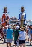 Nautisk procession av Virgenen del Spårvagnsförare (helgonet av sjömän) Arkivbilder