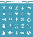 Nautisk symbolsuppsättning Royaltyfri Foto