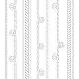 Nautisk vektor eller klättringrep som är tunt och tjockt isoleras på vit bakgrund för bruk som borste royaltyfri illustrationer