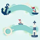Nautiska baner Royaltyfri Foto