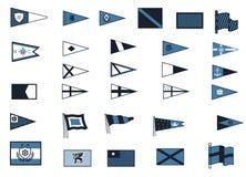 Nautiska flaggor Arkivbild