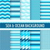 Nautiska havsmodeller vektor illustrationer