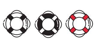 Nautiskt för roder för ankare för havet för havet för stranden för simbassängen för fartyget för logoen för symbolen för räddning vektor illustrationer