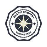 Nautiskt mall för sjömanlogodesign Royaltyfri Fotografi