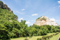 Nautural forests. Natural forests and beautiful mountains in countryside Ratchaburi Thailand Stock Images