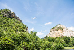 Nautural forests. Natural forests and beautiful mountains in countryside Ratchaburi Thailand Royalty Free Stock Photos