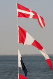 Nautyczne flaga Fotografia Royalty Free