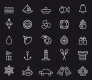 Nautyczne ikony Zdjęcia Stock